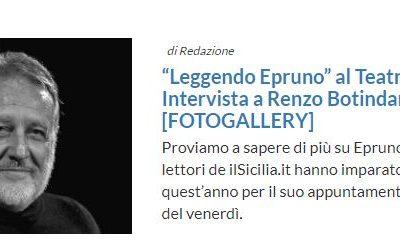 """""""Leggendo Epruno"""" al Teatro S. Cecilia. Intervista a Renzo Botindari"""